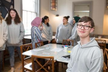 Young person at engagement event
