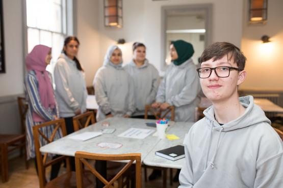 Young people at healthwatch event