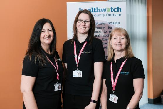 Three members of Healthwatch County Durham Signposting Team