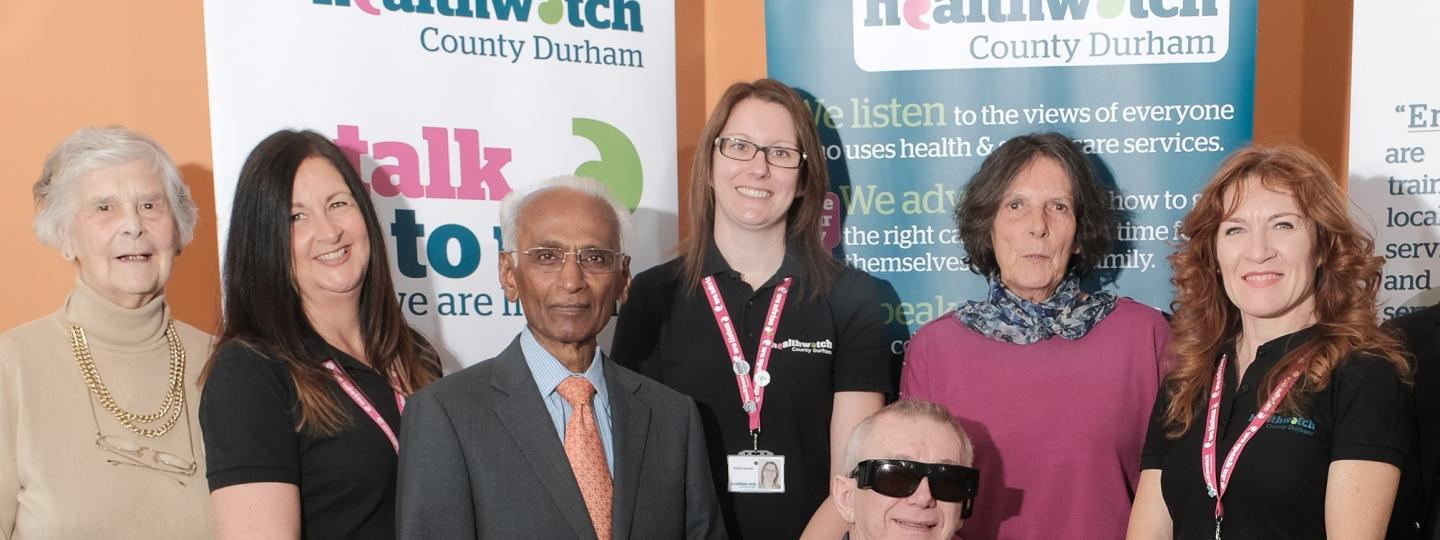 Some of the Healthwatch County Durham Board members and staff
