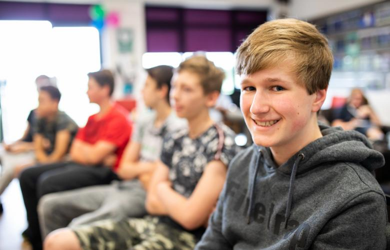 Young person smiling